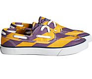 Unisex Sperry x Rowing Blazers Seamate 2-Eye Rugby Stripe Sneaker, Purple/Yellow, dynamic