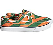 Unisex Sperry x Rowing Blazers Seamate 2-Eye Rugby Stripe Sneaker, Orange/Green, dynamic