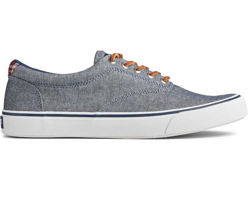 Striper II CVO Chambray Sneaker, Navy, dynamic