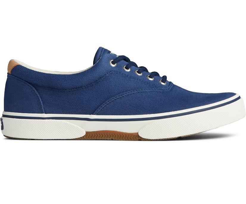 Halyard CVO Distressed Sneaker, Navy, dynamic