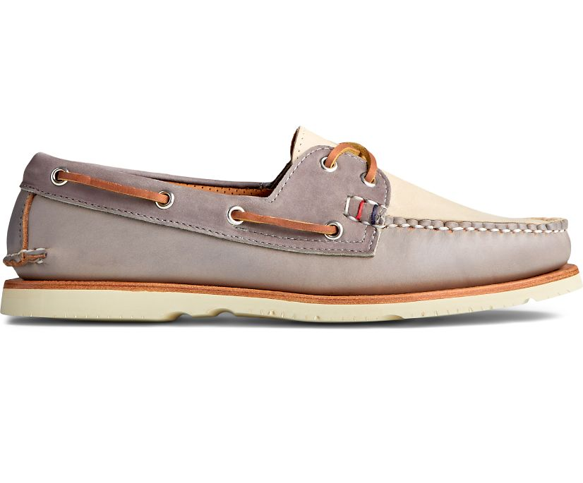 Gold Cup Handcrafted in Maine Boat Shoe, Grey Tri-Tone, dynamic
