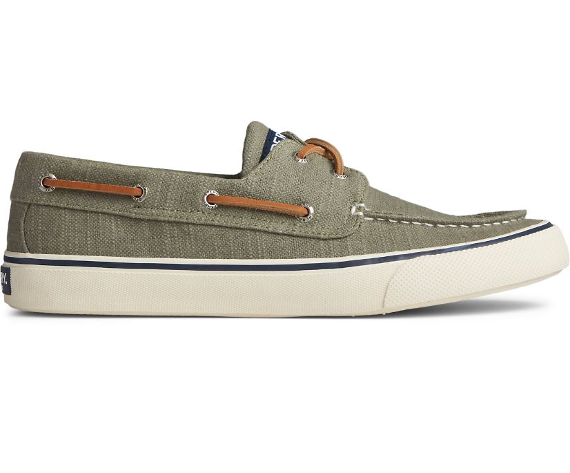 Bahama II Baja Linen Sneaker, Olive, dynamic