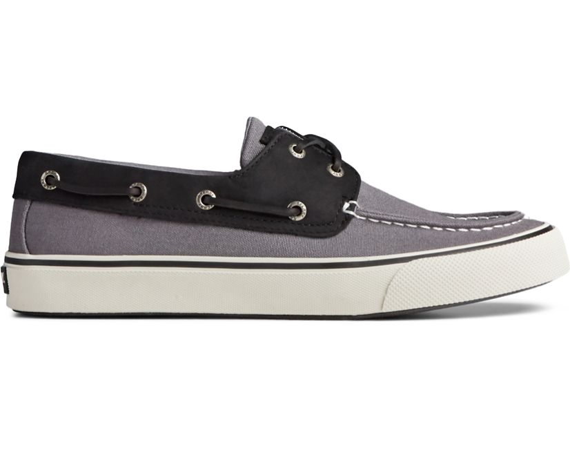 Bahama II Leather Collar Sneaker, Grey/Black, dynamic