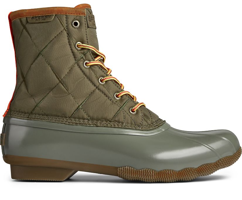 Saltwater Nylon Duck Boot, Olive, dynamic