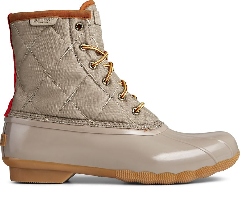 Saltwater Nylon Duck Boot, Taupe, dynamic