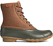 Saltwater Wool Duck Boot, Brown/Olive, dynamic
