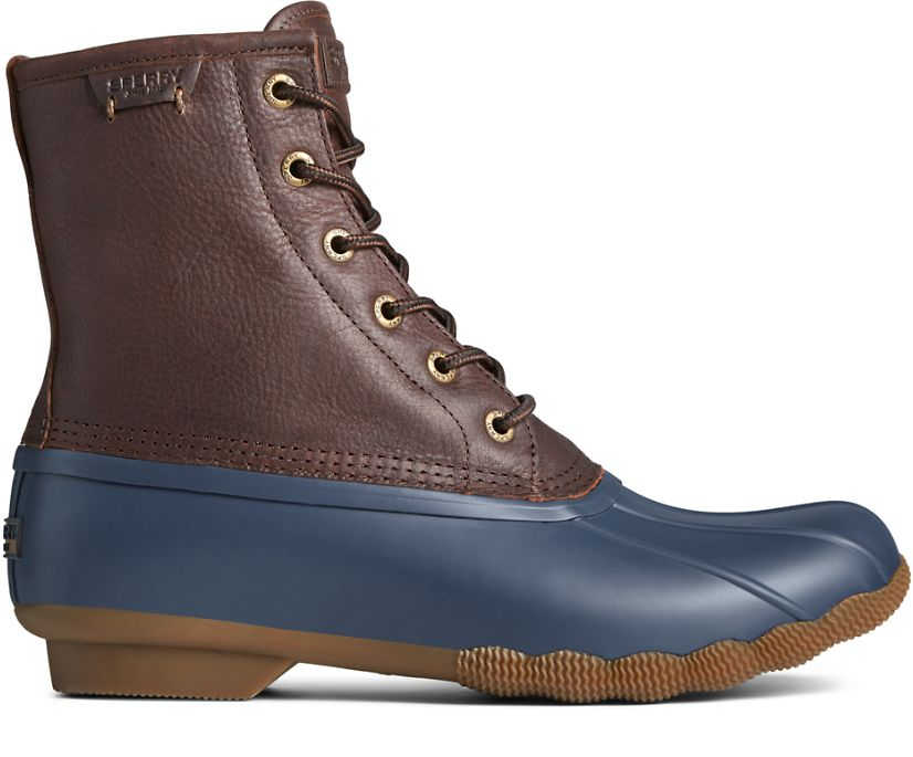 Saltwater Duck Boot, Brown/Navy, dynamic