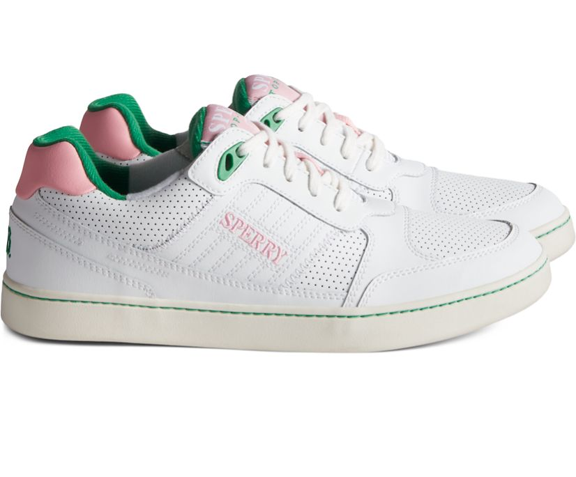Unisex Rowing Blazers Sperry Cloud Cup Sneaker, Pink/Green, dynamic