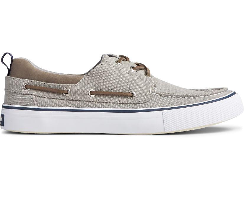 Bahama 3-Eye Salt Washed Canvas Sneaker, Grey, dynamic