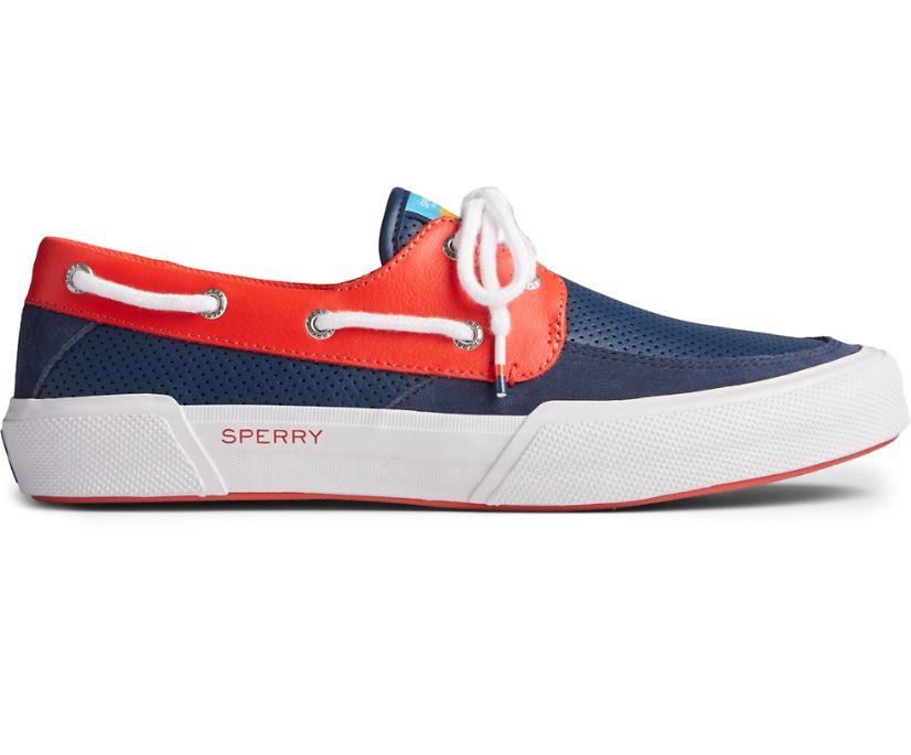 Soletide 2-Eye Sneaker, Navy/Red, dynamic