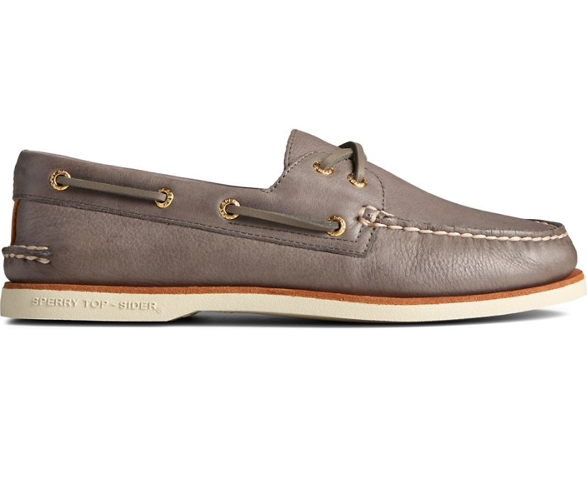 Gold Cup Authentic Original 2-Eye Soft Leather Boat Shoe, Charcoal, dynamic