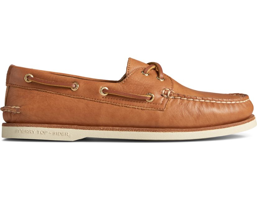 Gold Cup Authentic Original 2-Eye Soft Leather Boat Shoe, Tan, dynamic