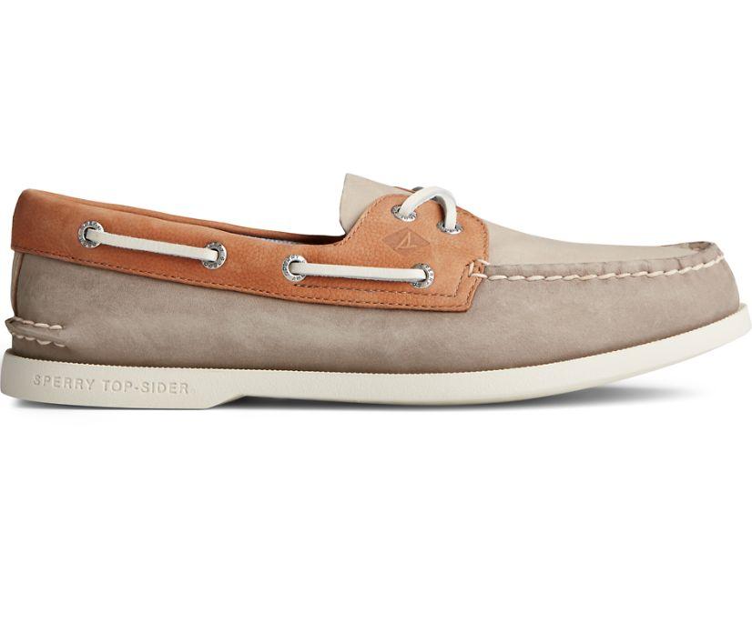 Authentic Original PLUSHWAVE Tri-Tone Boat Shoe, Tan Multi, dynamic