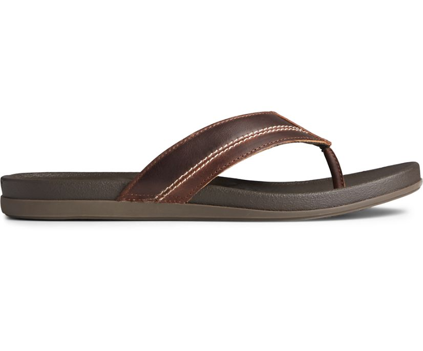 PLUSHWAVE Dock Flip Flop, Brown, dynamic