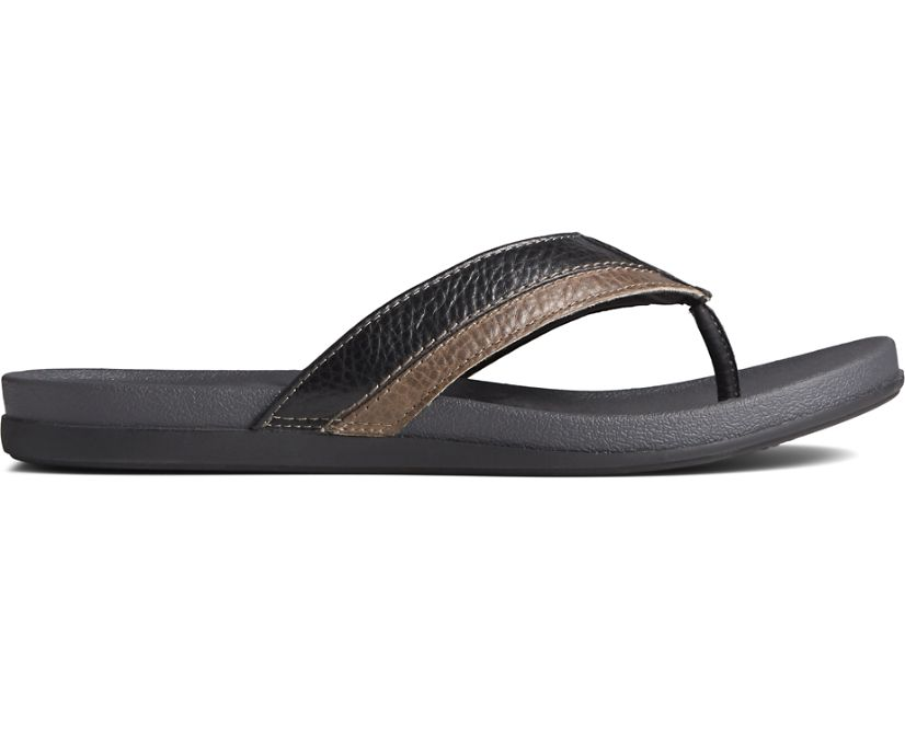 PLUSHWAVE Dock Flip Flop, Black, dynamic