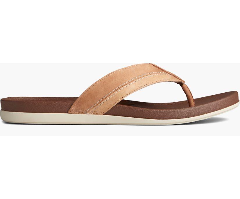 PLUSHWAVE Thong Sandal, Tan, dynamic