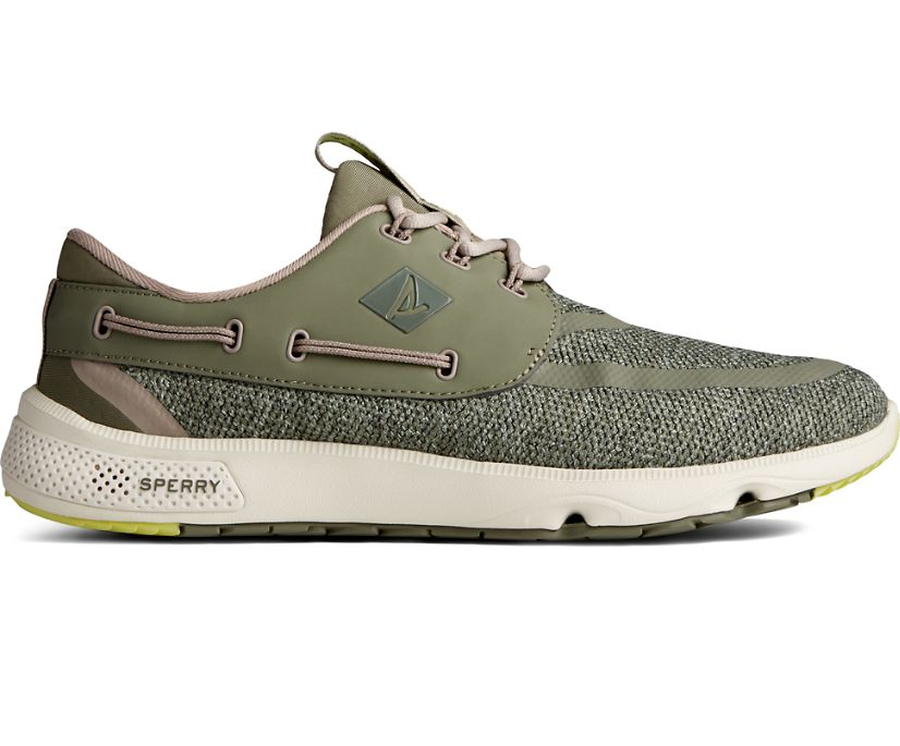 7 Seas 3-Eye Heathered Sneaker, Olive, dynamic