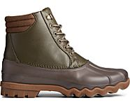 Avenue Embossed Duck Boot, Olive/Brown, dynamic