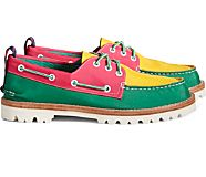 Unisex Sperry x Rowing Blazers Authentic Original 3-Eye Boat Shoe, Pink Multi, dynamic