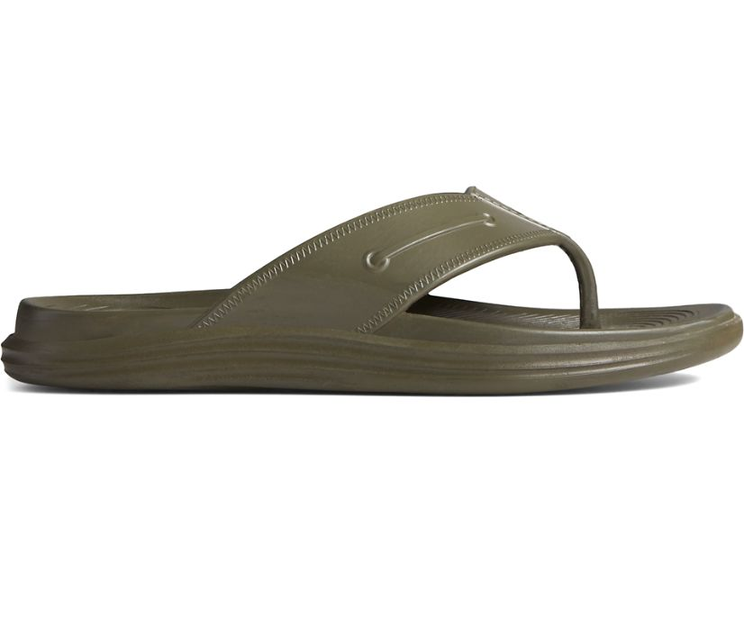 Windward Float Flip Flop, Olive, dynamic