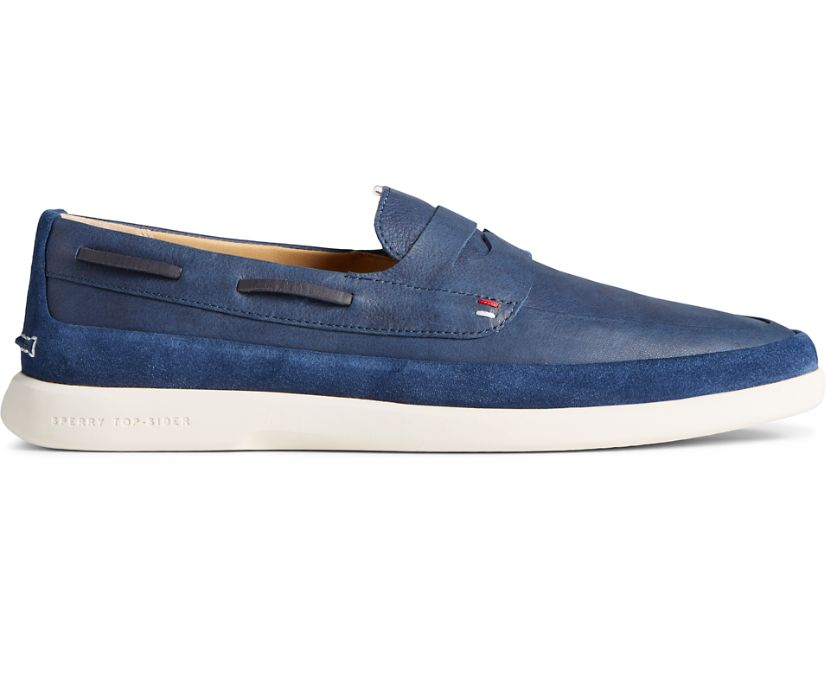 Gold Cup Cabo PLUSHWAVE Penny Loafer, Navy, dynamic
