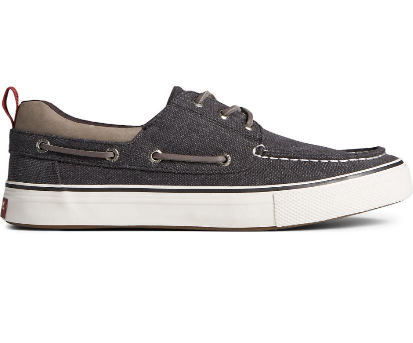 Bahama 3-Eye Salt Washed Canvas Sneaker, Black, dynamic