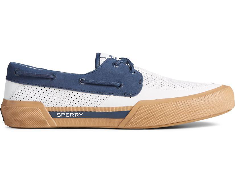 Soletide 2-Eye Sneaker, White/Navy, dynamic