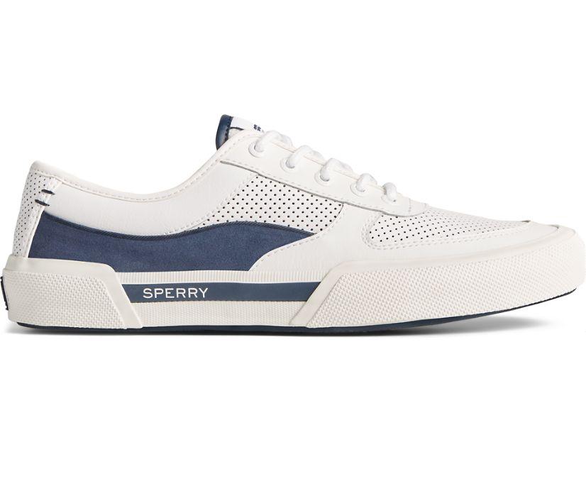 Soletide Retro Sneaker, White/Navy, dynamic