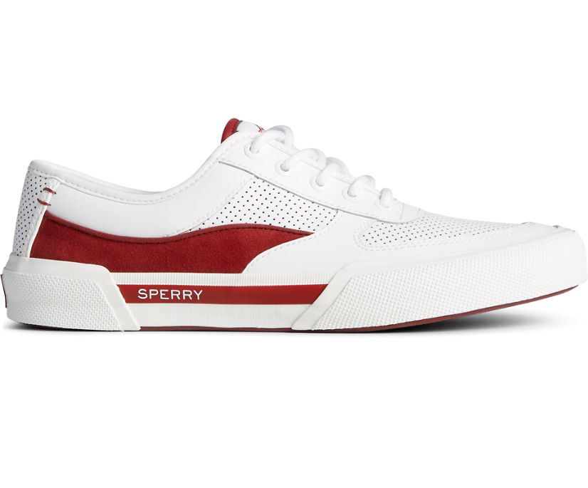 Soletide Retro Sneaker, White/Red, dynamic