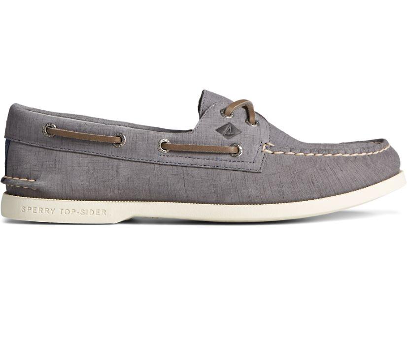 Authentic Original 2-Eye PLUSHWAVE Checkmate Boat Shoe, Navy, dynamic