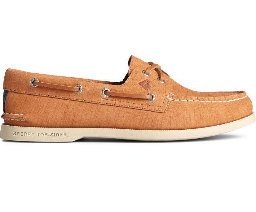 Authentic Original 2-Eye PLUSHWAVE Checkmate Boat Shoe, Tan, dynamic
