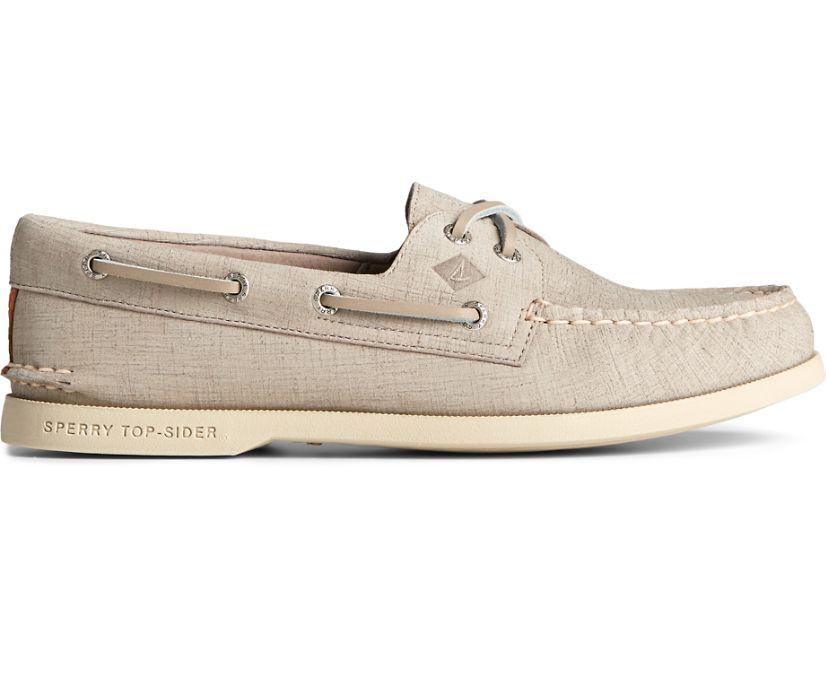 Authentic Original 2-Eye PLUSHWAVE Checkmate Boat Shoe, Grey, dynamic