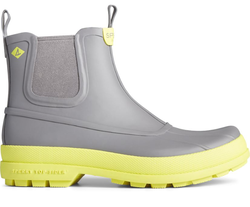 Cold Bay Rubber Chelsea Boot, Grey/Yellow, dynamic