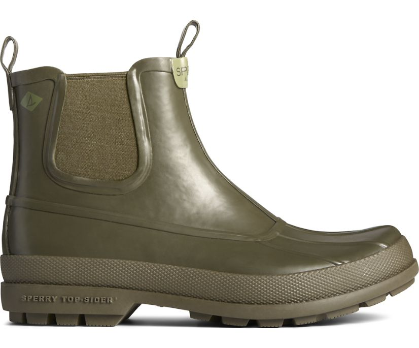 Cold Bay Rubber Chelsea Boot, Olive, dynamic