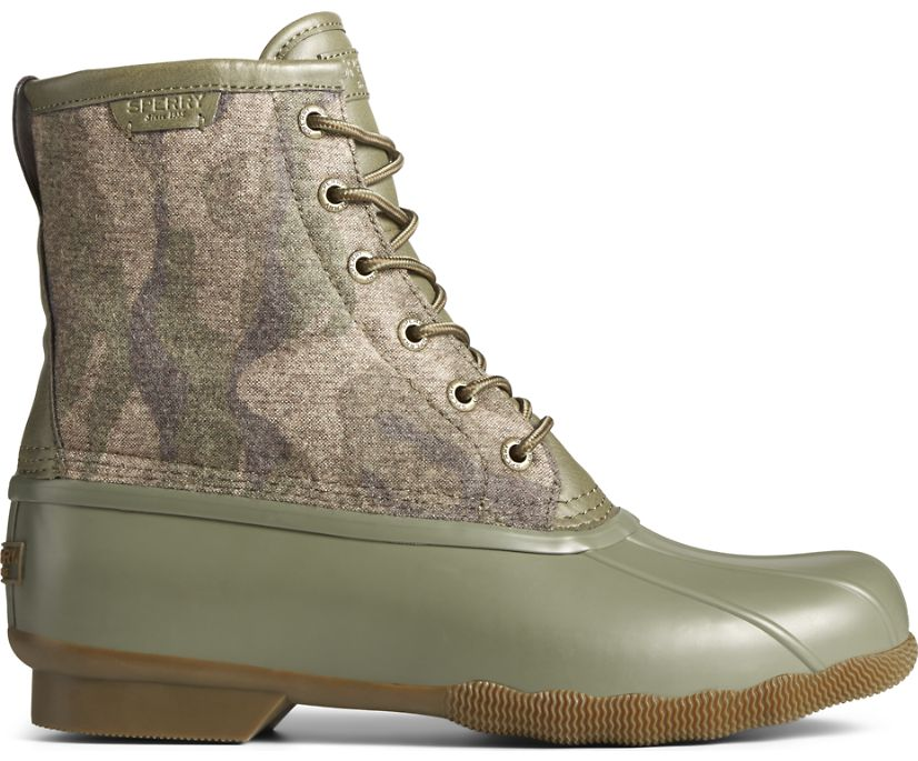 Saltwater Camo Duck Boot, Olive Camo, dynamic