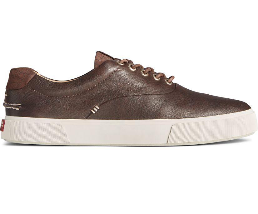 Gold Cup Striper PLUSHWAVE CVO Croc Leather Sneaker, Brown, dynamic