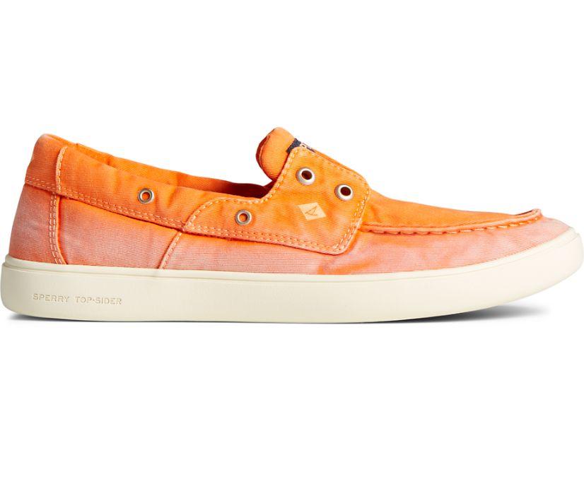 Outer Banks 2-Eye Twill Boat Shoe, Orange, dynamic