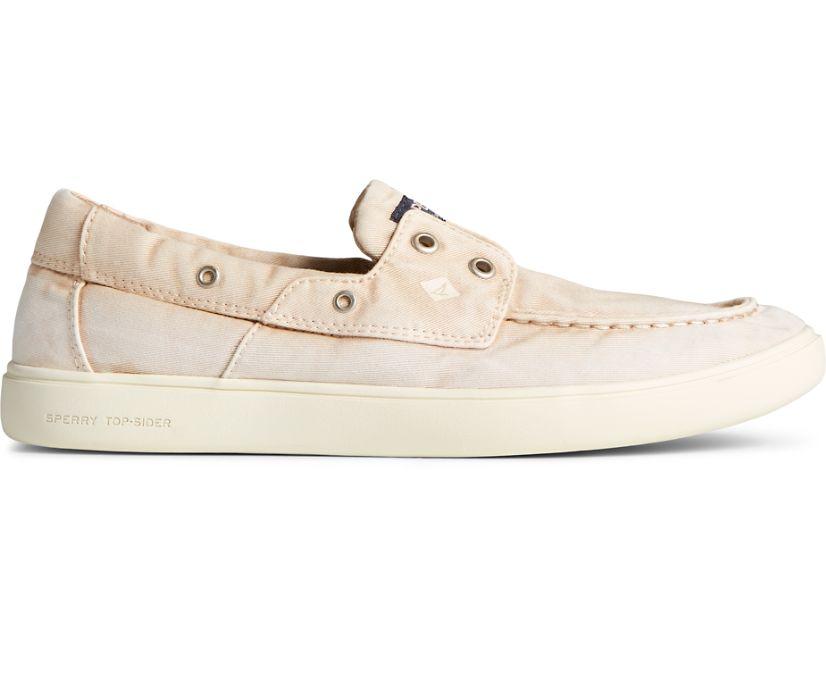 Outer Banks 2-Eye Twill Boat Shoe, Khaki, dynamic