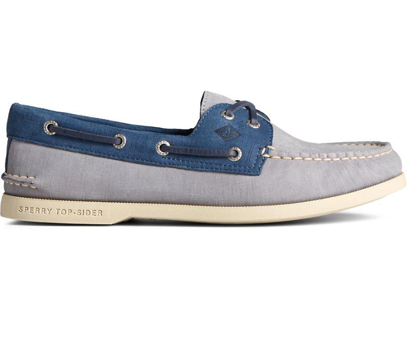 Authentic Original 2-Eye PLUSHWAVE Checkmate Boat Shoe, Grey Multi, dynamic