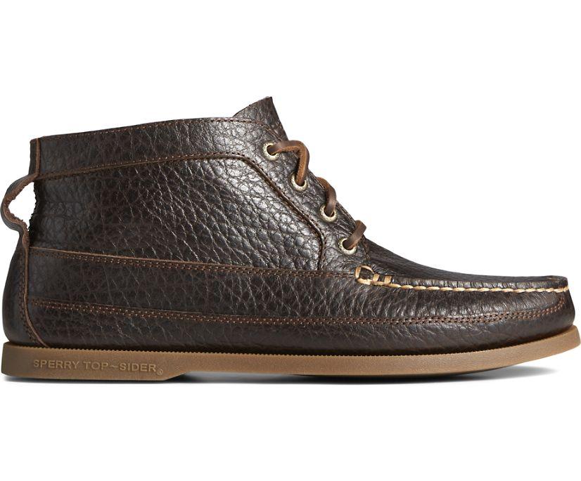Authentic Original Tumbled Leather Boat Chukka, Dark Brown, dynamic