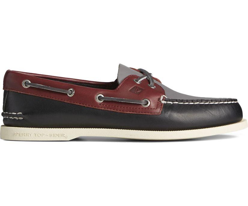 Authentic Original 2-Eye Tri-Tone Boat Shoe, Black Multi, dynamic