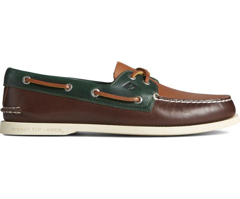 Authentic Original 2-Eye Tri-Tone Boat Shoe, Brown Multi, dynamic