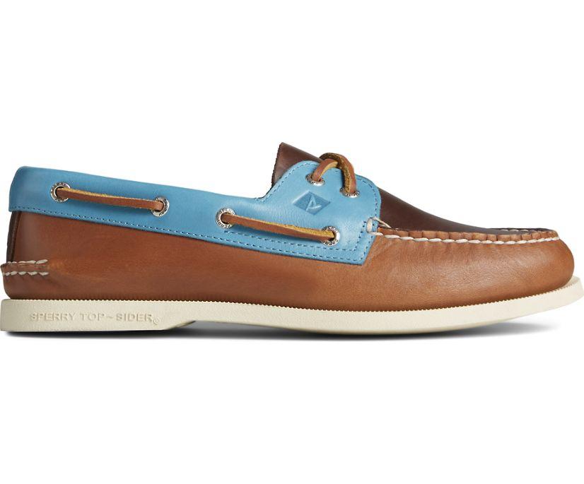 Authentic Original 2-Eye Tri-Tone Boat Shoe, Tan Multi, dynamic