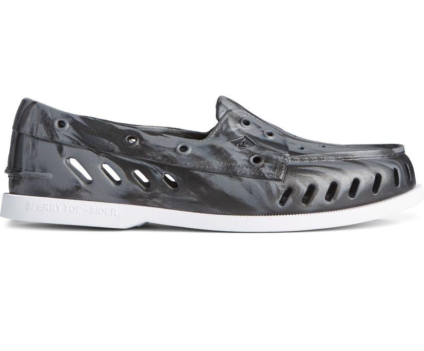 Authentic Original Float Marbled Boat Shoe, Black/Grey, dynamic