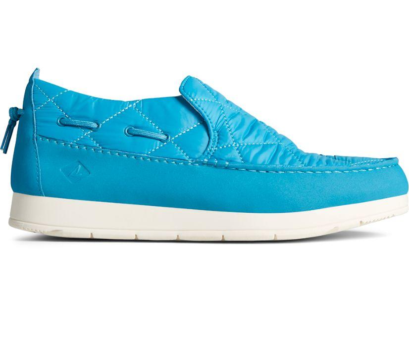 Moc-Sider Nylon Slip On, Blue, dynamic