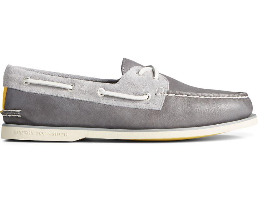 Gold Cup Authentic Original Nautical Boat Shoe, Grey Multi, dynamic