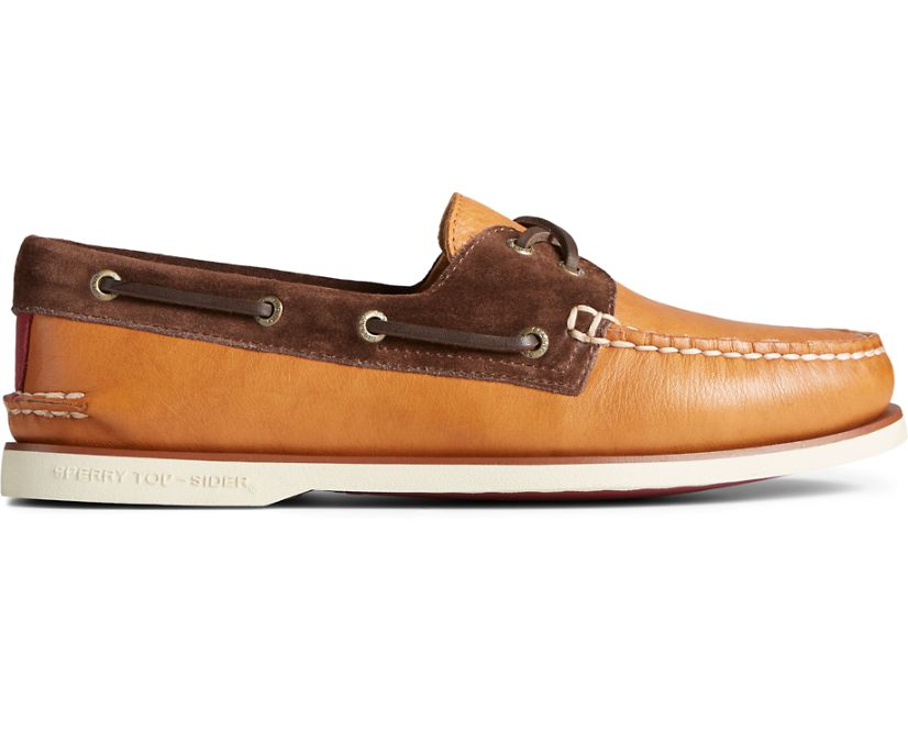 Gold Cup Authentic Original Nautical Boat Shoe, Tan Multi, dynamic