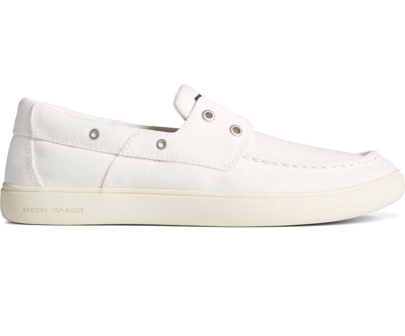 Outer Banks 2-Eye Canvas Boat Shoe, White, dynamic