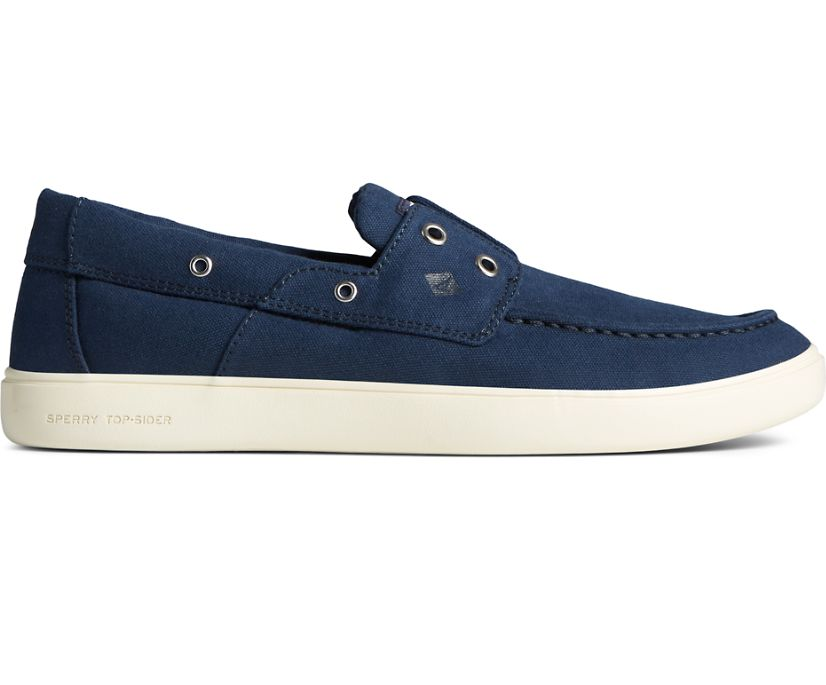 Outer Banks 2-Eye Canvas Boat Shoe, Navy, dynamic
