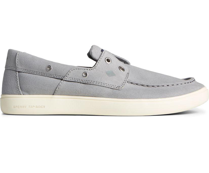 Outer Banks 2-Eye Canvas Boat Shoe, Grey, dynamic